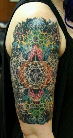 My sacred geometry/fractal art tattoo.