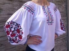 Folk Fashion, Ethnic Fashion, Womens Fashion, Ukrainian Dress, Shirt Embroidery, Embroidered Clothes, Folk Costume, Beautiful Blouses, Indian Dresses
