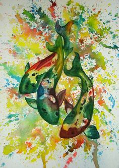 Koi Painting by Amanda Hill