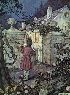 Anton Pieck (1895 - 1987) pintor e ilustrador holandés. Serenade.