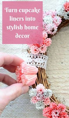 Turn Cupcake Liners Into Stylish Home Decor