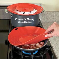 Boil-Over Spill Guard @ Fres... from freshfinds.com on Wanelo