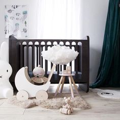 Ending the weekend with this beautiful nursery space featuring our Ooh Noo toy pram and gorgeous Blib Blob doll by Lucky Boy Sunday. Both available at the link in our bio. Night world   Beautiful image @nyearthur