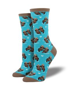 Women's Significant Otter Socks (Blue Chalk/ Bright Blue) http://ss1.us/a/KOTKcafw
