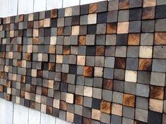 Arte de pared de madera o cabecero de la reina por WallWooden