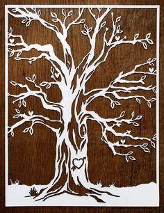 Cut paper tree