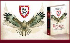 Ilustración y diseño de cubierta que he realizado para la novela histórica El vuelo de los Halcones de Juan Antonio de Ybarra e Ybarra editado por La Esfera de los Libros.