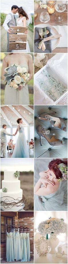 Create your own modern romance with a pretty powder blue wedding palette
