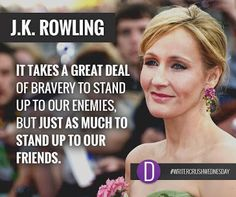 Our #WriterCrushWednesday, J.K. Rowling herself.  Best known for the #HarryPotter series, we're crushing hard on Rowling's wit and philanthropic endeavors.