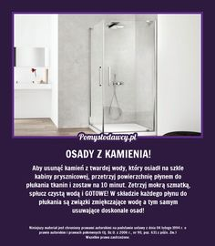 NIEZWYKŁY TRIK NA USUNIĘCIE OSADÓW Z KABINY PRYSZNICOWEJ, KTÓREGO NIE ZNASZ! Cheap Hardwood Floors, Guter Rat, Modern Flooring, Home Hacks, Good Advice, Clean House, Housekeeping, Good To Know, Home Remedies