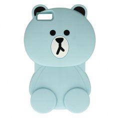 P8 Lite Huawei Etui / pokrowiec gumowa obudowa NIEBIESKI MIŚ teddybear GUMA