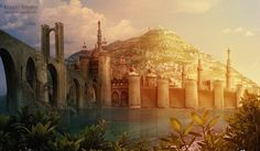 "Tashbaan by =Sedeptra  The southern city from ""Horse and His Boy"" by C.S. Lewis"