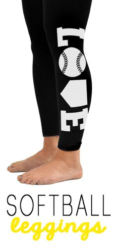 Do you LOVE Softball? Then you will love our softball leggings! Our leggings are crazy popular because they look awesome and they are insanely comfy! Perfect for around town, at home lounging or at the gym....anywhere! . Choose white or yellow printing and they are available in youth and adult sizes. Our softball leggings are the perfect gift idea for any softball girl!