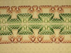 Costurero super util!   A ♥PXLaura♥ A Huck Towels, Hand Embroidery Design Patterns, Swedish Weaving Patterns, Swedish Embroidery, Bargello, Ribbon Embroidery, Needlework, Diy And Crafts, Knitting