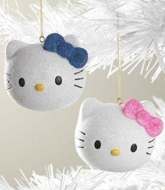 Hello Kitty - Ornaments Kinda want em Navidad Hello Kitty, Hello Kitty Natal, Hello Kitty Christmas, Hello Kitty Purse, Pink Christmas, Christmas Cats, Felt Christmas Ornaments, Christmas Decorations, Hello Kitty Themes