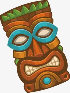 Mascaras Tiki Png images in Collection) Page 1 - DIY and crafts Hawaiian Tiki, Hawaiian Theme, Wiki Tiki, Tiki Pole, Male Face Drawing, African Tribal Patterns, Tiki Faces, Island Crafts, Tiki Man