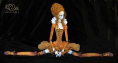 Tireless Artist OOAK Ribbon-Jointed Doll Mary of Scots.
