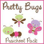 1+1+1=1...Pretty Bugs Preschool Pack free and very cute!