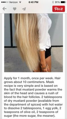 Mustard power hair mask for growth. I am doing this but not this often because her hair is WAY to long.