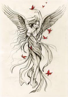 Angel of Spring by Anna Marine <3 http://anna-marine.deviantart.com/