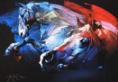 Braca Djurkovic - Painter - Official Website - Oil on Canvas Oil Pastel Colours, Pastel Art, Bull Painting, Beautiful Horse Pictures, Horse Artwork, Horse Drawings, Watercolor Artwork, Art For Art Sake, Equine Art