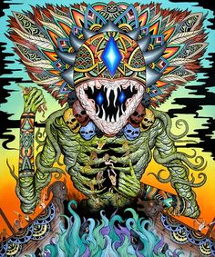"""A Gleaming Destroyer"" Giclee Print Colorful Art, Mystical Art, Psychedelic Art, Travel Art, Fantasy Art, Amazing Art, Painting, Art, Dark Art"