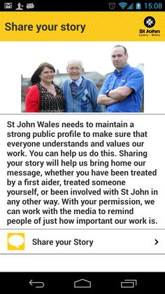 Download St John Wales' free app at www.stjohnwales.org.uk
