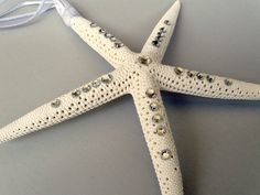 Our wedding favors.. Starfish Christmas ornaments