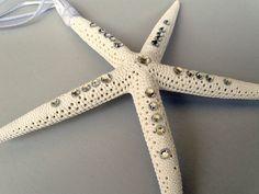 Our wedding favors.. Starfish Christmas ornaments