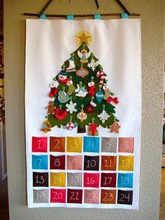 Felt Christmas advent calendar. Her handmade ornaments are divine. The detail on them is crazy good. To do list for sure this year.