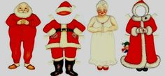 Santa Claus Dress Up Paper Doll Free Printable - by Altered Artifacts         ===     Here is Santa Claus and his wife dress up paper dolls in a vintage paper model preserved and shared by Altered Artifacts website.