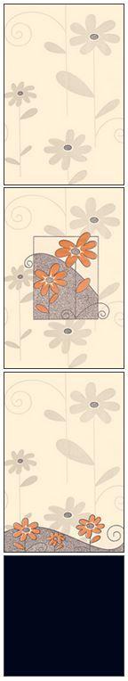 Millennium Tiles 200x300mm (8x12) Luster Concept Design Ivory Ceramic Wall Tiles - 718 - 716 - 716 - Black