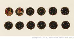 [Ganjifa mogholes de forme ronde]. , [2ème couleur : Safed (lunes ou pièces d'argent)] : [carte à jouer, peinture] - 1