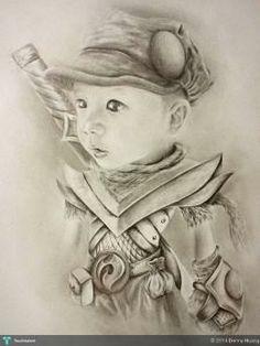 """"""" Ninja Warrior """" #Creative #Art #Sketching @touchtalent.com"""