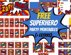 Free Superhero Party Printables + Extras!