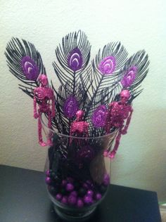 Purple and Black Halloween Decorations