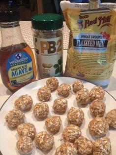 @Christina Childress Calderon, no-bake PB2 bites! The Running Baker: PB2 Protein Bites TheWeighWeWere.com