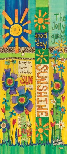 Good Day Sunshine Art Pole - 3 Foot Lennon & McCartney & Painted Peace - Decoration Fireplace Garden art ideas Home accessories Diy Garden Projects, Garden Crafts, Art Projects, Garden Ideas, Legacy Projects, Fence Ideas, Easy Garden, Garden Inspiration, Peace Painting