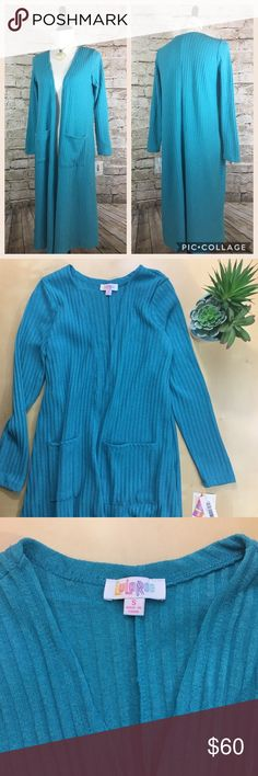 NWT- LuLaRoe Sarah Cardigan- size small- Turquoise New with tags- LuLaRoe Sarah cardigan- size small- color is Turquoise- new- smoke free home- price is firm LuLaRoe Sweaters