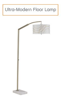 Illuminate any space in your home with this lamp's ultra-modern style. Its easily adjustable neck allows for just the right degree of light for any situation.