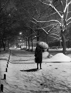 Kozák Lajos - Falling snow woman with a umbrella tree line, probably in the City Park at night. Old Pictures, Old Photos, The Dead Lands, Capital Of Hungary, Sense Of Place, Most Beautiful Cities, Beautiful People, History Photos, Budapest Hungary