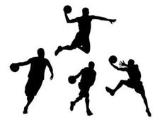 Basketball Action: Basketball Player silhouette template