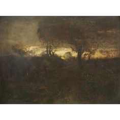 Artwork by John Francis Murphy, DUSK TONALIST LANDSCAPE, Made of oil on canvas