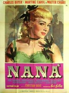 NANA  Artist: Cesselon, A.  Directed by: Christian-Jaque  Starring: Charles Boyer, Martine Carol,   Circa:1955  Buy It Here:http://www.la-belle-epoque.com/vintage-poster/Movie—-Film/1591/NANA    Today's New York Film Festival inspired movie poster is NANA. An italian 1955 movie adaptation of the 1880 book of the same name, by Emile Zola. While we have nothing particular to say about the film, but we really love the poster. It's all in the alluring eyes, and mysterious black birds.