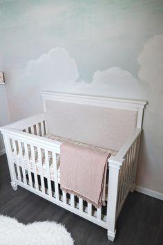 Darlington Crib by Million Dollar Baby for Girl Sky Nursery Nursery Book, Clouds Nursery, Girl Nursery, Star Themed Nursery, Nursery Themes, Brick Paneling, Grey Houses, Faux Brick