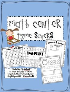 This packet is a collection of printable numbers recognition and counting activities to use in your Math Center. The games focus on the number 1-30...