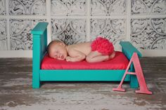SALE Photography Props Newborn Bed Turquoise by CreaTiveDesiGns4