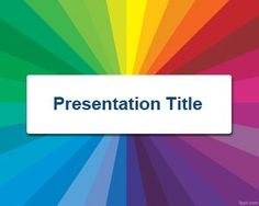 Color Radial PowerPoint Template PPT Template