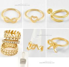 Mid Finger Rings | Tiny Size 2 | Silver & Yellow Gold Plated | Designer Inspired Jewelry | Fast & Free USA Shipping | $10.oo - $15.oo