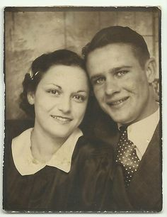 +~ Vintage Photo Booth Picture ~+  Young love ...